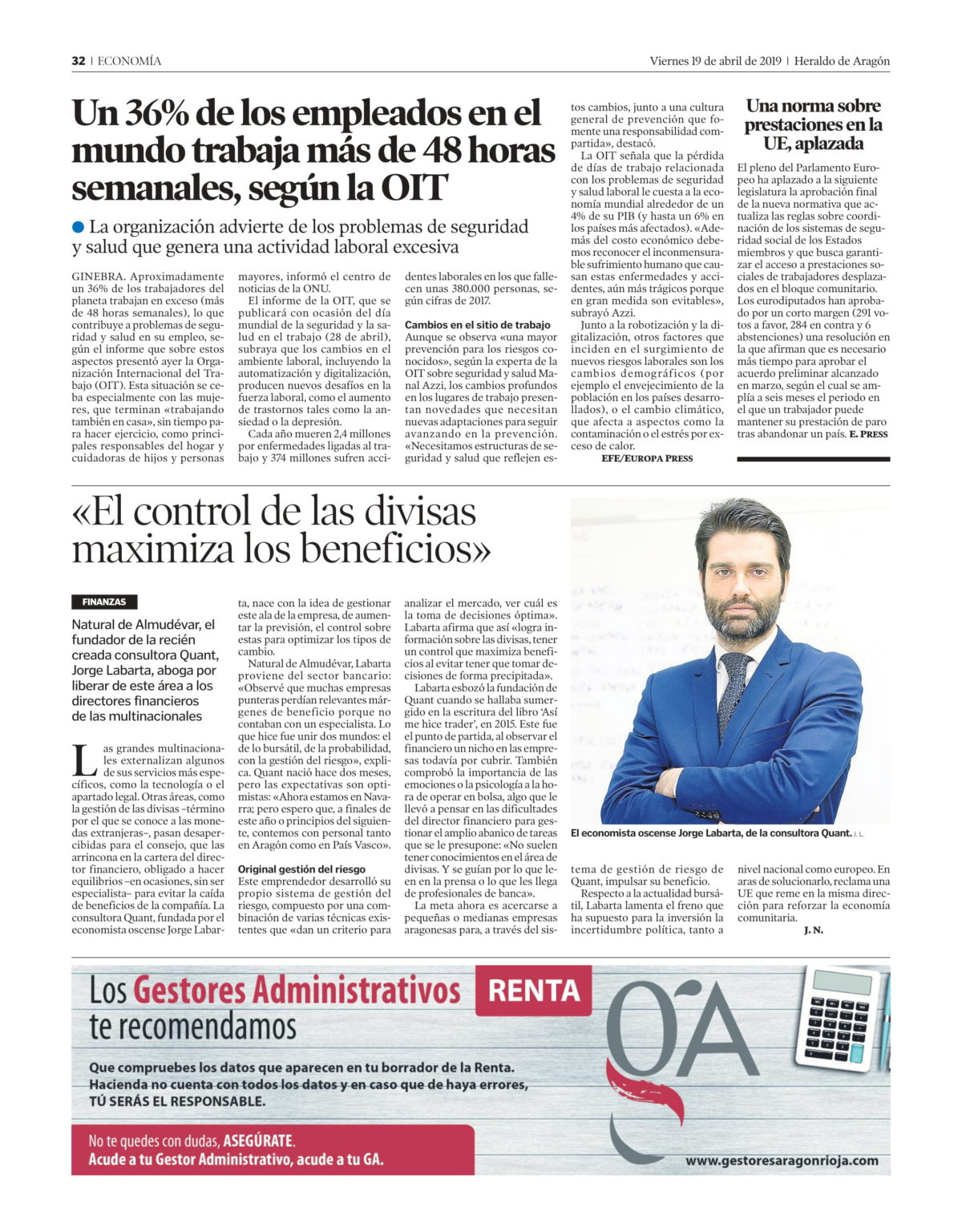 Reportaje que nos hace el Heraldo de Aragón.